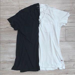 Men's True Religion Black & White Cotton T-Shirts